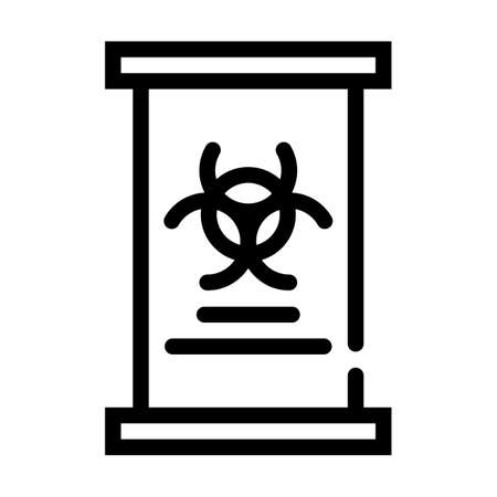 capsule for storing dangerous viruses line icon vector illustration 일러스트