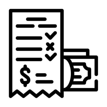 winning money card line icon vector illustration