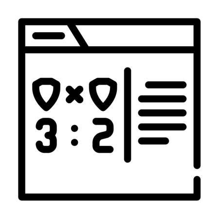 online game score line icon vector illustration