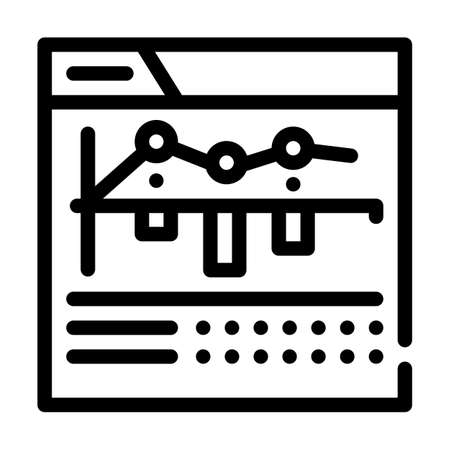 internet betting monitoring infographic line icon vector illustration Vettoriali