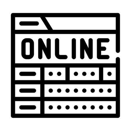 online game monitoring line icon vector illustration Vettoriali