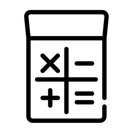 calculator gadget line icon vector isolated illustration Vettoriali