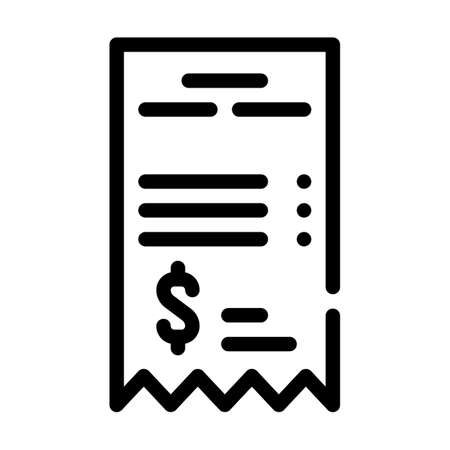 betting receipt line icon vector isolated illustration