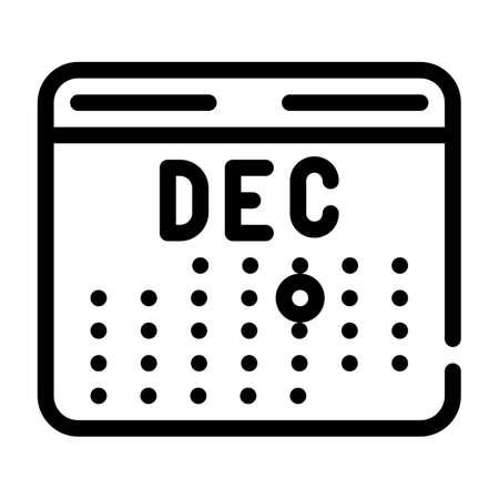 accounting revenue calendar line icon vector illustration Vettoriali
