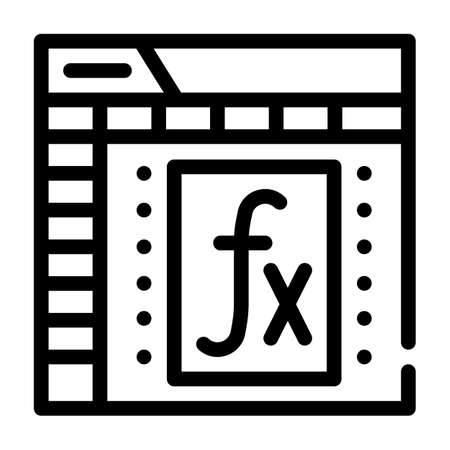 formula and function electronic document line icon vector illustration Vettoriali