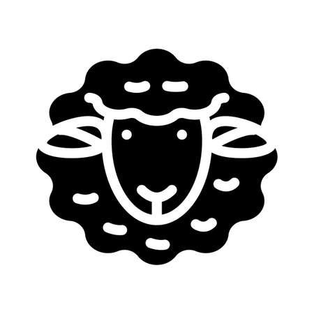 dolly sheep clone glyph icon vector illustration