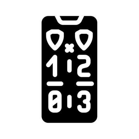 game score phone screen glyph icon vector illustration Vettoriali