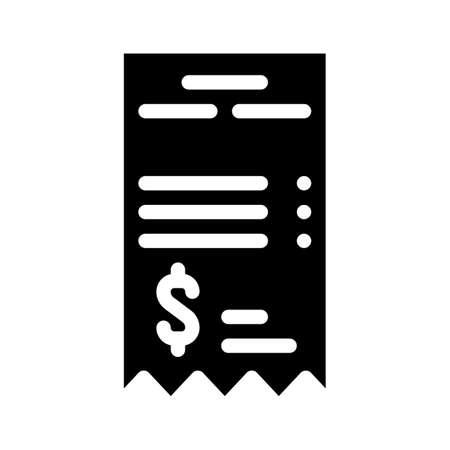 betting receipt glyph icon vector isolated illustration