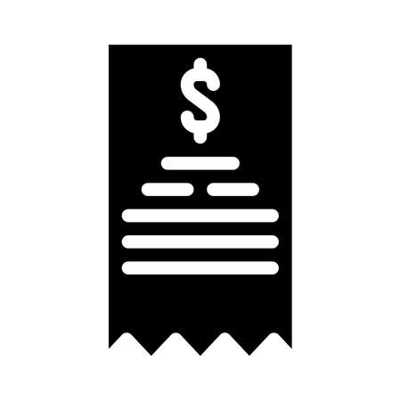 payment receipt glyph icon vector isolated illustration