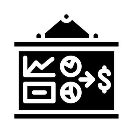 business plan presentation glyph icon vector illustration