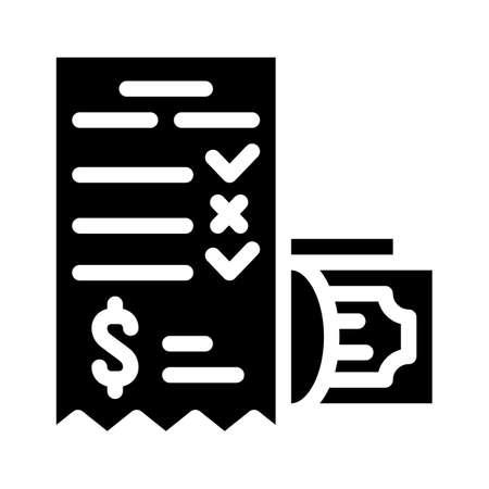 winning money card glyph icon vector illustration Vettoriali