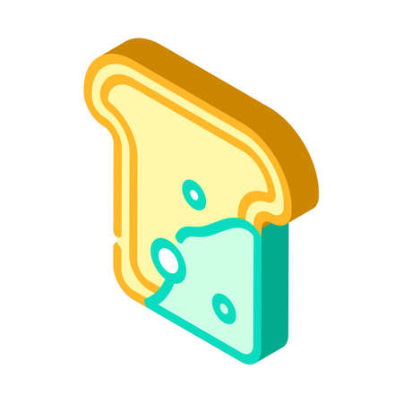mold on bread isometric icon vector illustration