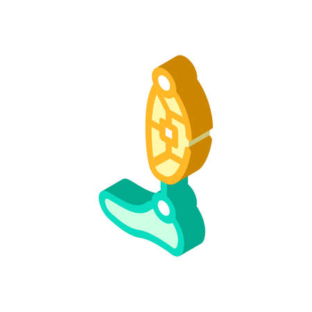 leg prosthesis isometric icon vector isolated illustration 일러스트