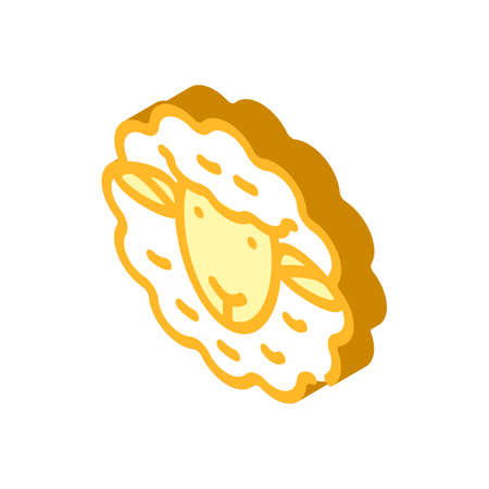 dolly sheep clone isometric icon vector illustration