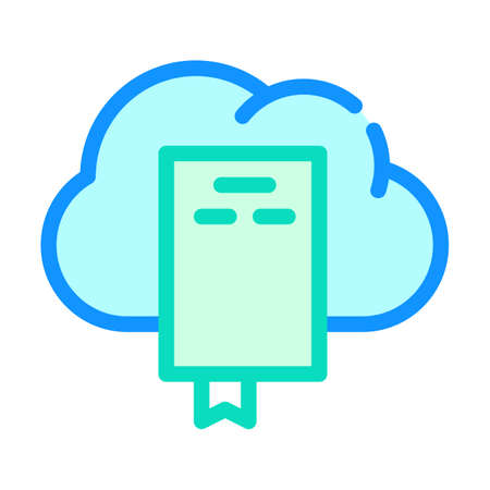 document cloud storage color icon vector illustration