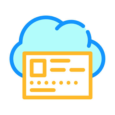 profile account inforamtion cloud storage color icon vector illustration Ilustrace