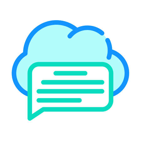 messaging cloud storage color icon vector illustration