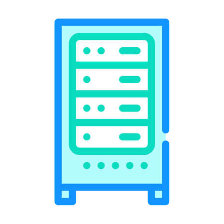 data center server color icon vector illustration