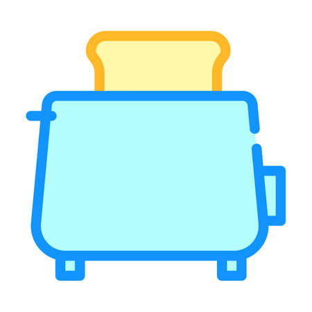 toaster fry bread color icon vector illustration