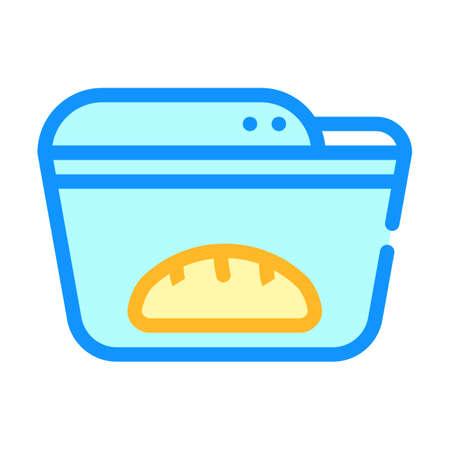 bread maker color icon vector symbol illustration