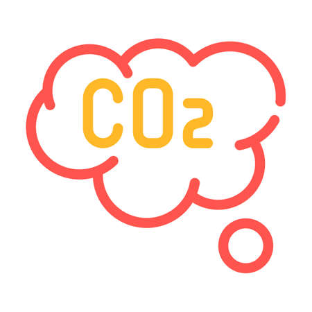 co2 cloud color icon vector symbol illustration Ilustrace