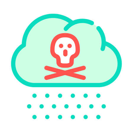 acid rain color icon vector symbol illustration Ilustrace