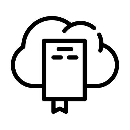 document cloud storage line icon vector illustration