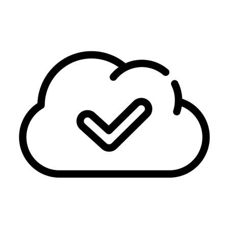 accept access cloud line icon vector illustration Ilustrace