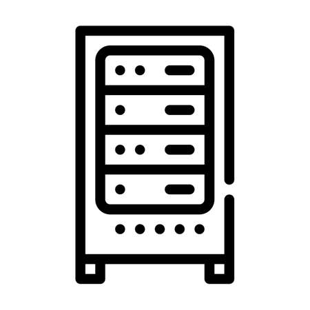 data center server line icon vector illustration