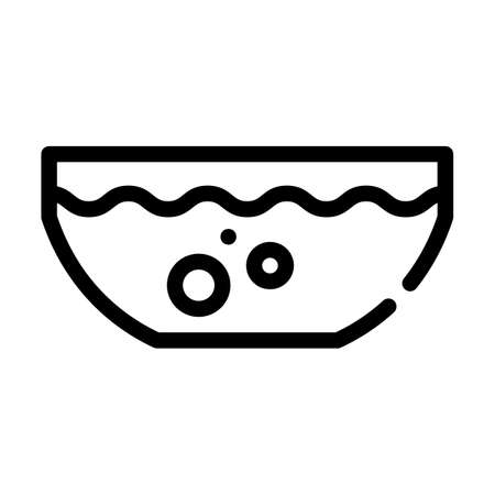 beetroot soup line icon vector symbol illustration