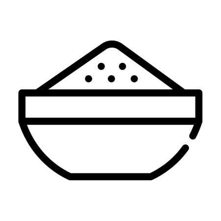 cool porridge line icon vector symbol illustration