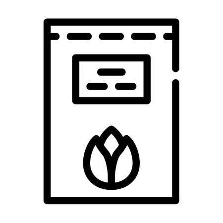 grain sprouts line icon vector symbol illustration