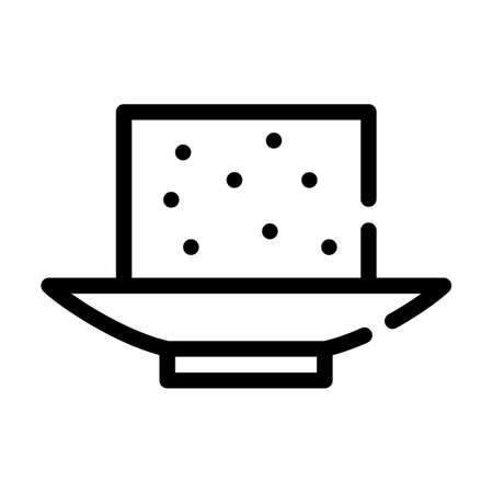 tofu cheese line icon vector symbol illustration Ilustrace