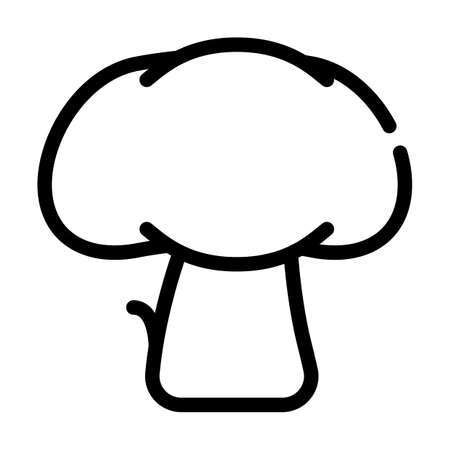 mushroom vegetable line icon vector symbol illustration