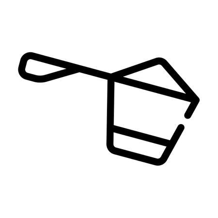 protein spoon line icon vector symbol illustration