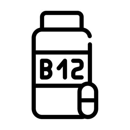 vitamins b12 line icon vector symbol illustration Ilustrace