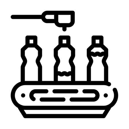 spill conveyor line icon vector symbol illustration