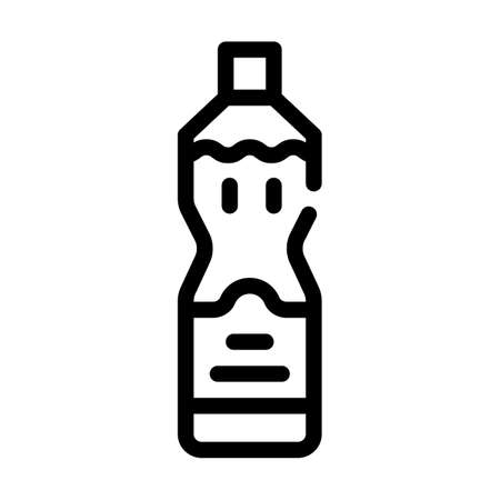 olive oil bottle line icon vector illustration Ilustrace