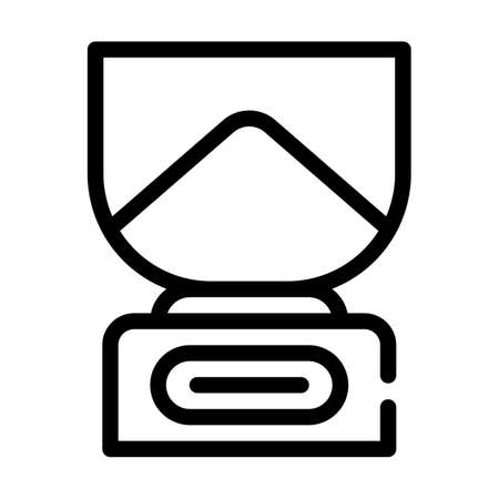 kitchen scales line icon vector symbol illustration