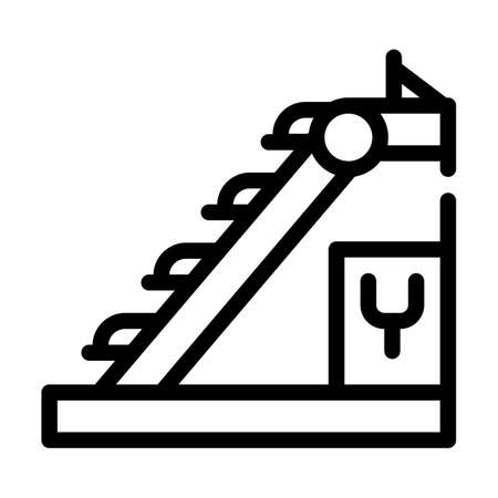 sorting line line icon vector symbol illustration
