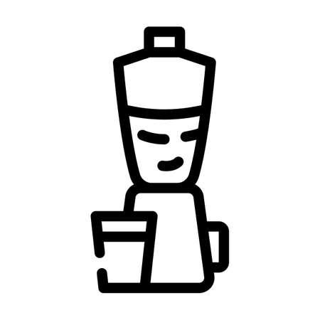 blender kitchen equipment line icon vector illustration