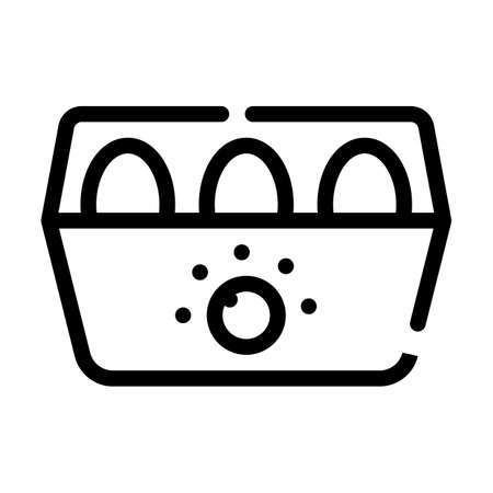 egg cooker line icon vector symbol illustration