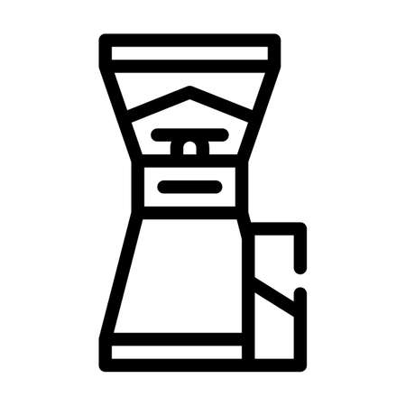 coffee grinder line icon vector symbol illustration Ilustrace