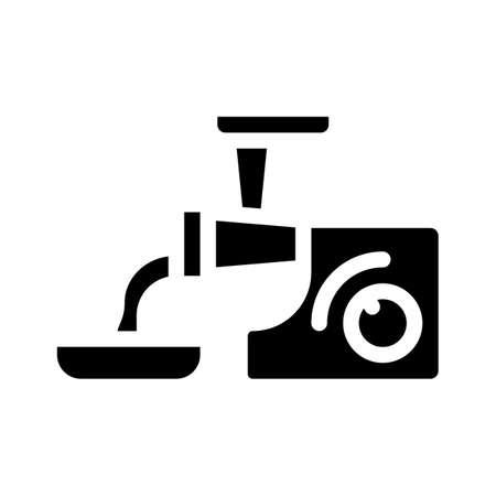 meat grinder glyph icon vector symbol illustration Stock Illustratie