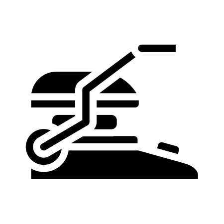 electronic bbq grill glyph icon vector illustration