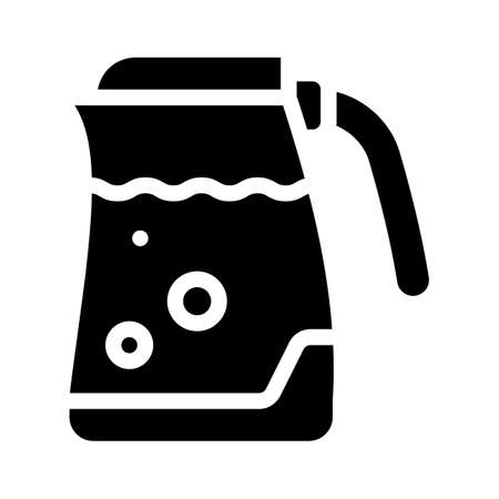 electric kettle glyph icon vector symbol illustration