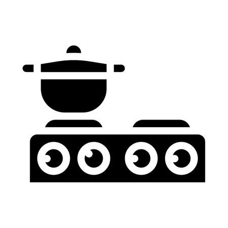 table stoves glyph icon vector symbol illustration