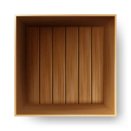 Wooden Box Container For Transportation Vector Illustration