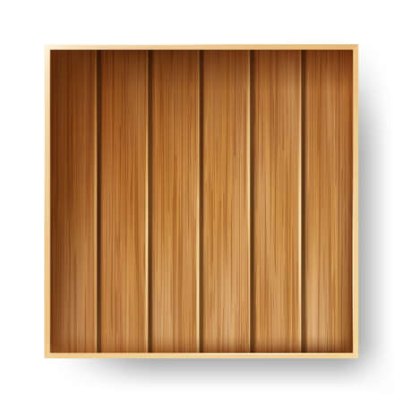 Wooden Box Timber Package For Storaging Vector Ilustrace