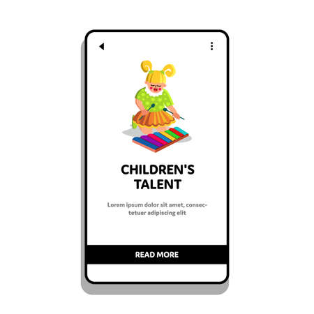 Children Talent For Musical Instrument Vector Illustration